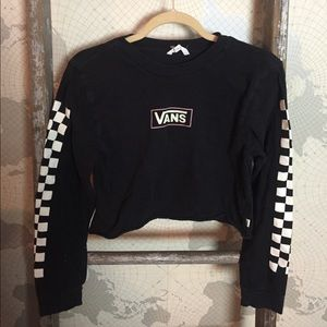 Vans checkerboard cropped shirt S